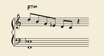 オルタードスケールは、半音上のメロディックマイナースケール