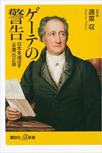 ゲーテの警告 日本を滅ぼす「B層」の正体 適菜収著
